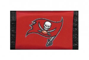 Tampa Bay Buccaneers Nylon Trifold WALLET