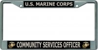 U.S. Marine Corps Community Services Officer Chrome Frame