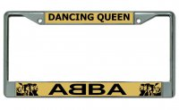 Abba Dancing Queen Chrome License Plate Frame