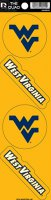 West Virginia Mountaineers Quad Decal Set