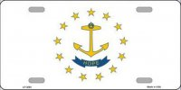 Rhode Island State Flag Metal License Plate