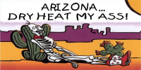 Arizona Dry Heat My Ass License Plate