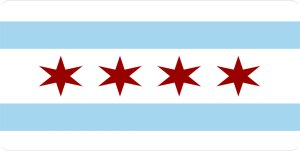 Chicago City Flag Photo License Plate