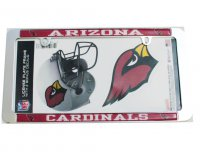 Arizona Cardinals Thin Rim Value Chrome Frame w/Bonus Decals