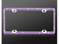 Chrome Coating Metal With Double Row Purple Diamond Frame