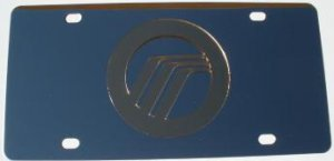 Mercury Gold Logo Stainless Steel License Plate