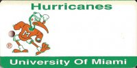 University Of Miami Hurricanes NCAA Key Chain