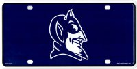 Duke Blue Devils Logo Metal License Plate