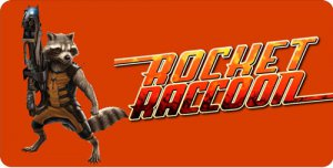 Rocket Raccoon Photo License Plate