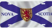 Nova Scotia Flag Airbrush License Plate