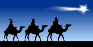 Three Wise Men On Blue Photo License Plate
