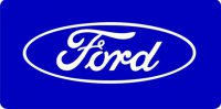 Ford Blue License Plate