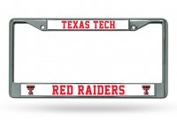 Texas Tech Red Raiders Chrome License Plate Frame