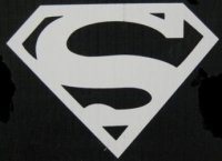 "Superman Logo White 4"" x 4"" Decal"