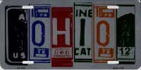 Ohio Cut Style Metal License Plate