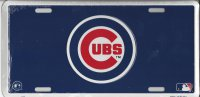 Chicago Cubs Blue License Plates