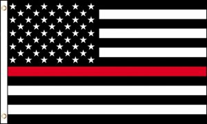 USA Thin Red Line Polyester Flag