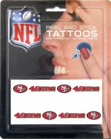 San Francisco 49ers 8-PC Peel and Stick Tattoo Set