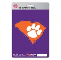 Clemson Tigers Die Cut State Decal