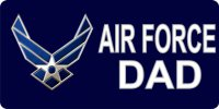 Air Force Dad Photo License Plate