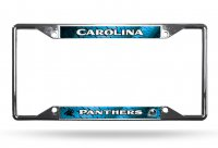 Carolina Panthers EZ View Chrome License Plate Frame