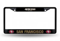San Francisco 49ers Black License Plate Frame