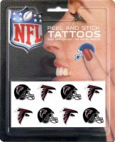 Atlanta Falcons 8-PC Peel and Stick Tattoo Set