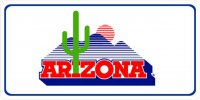 Arizona Cactus Logo Photo License Plate