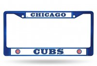 Chicago Cubs Anodized Blue License Plate Frame