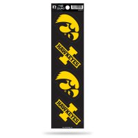 Iowa Hawkeyes Quad Decal Set