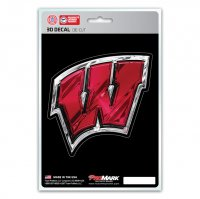 Wisconsin Badgers Die Cut 3D Decal