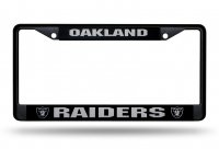 Oakland Raiders Black License Plate Frame