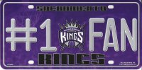 Sacramento Kings #1 Fan Metal License Plate