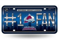 Colorado Avalanche #1 Fan License Plate