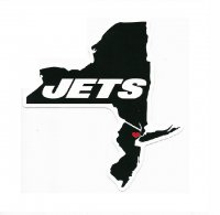 New York Jets Home State Vinyl Sticker