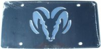 Dodge Ram Black Laser License Plate