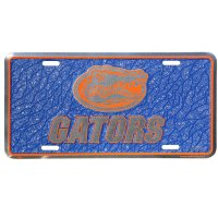 Florida Gators Mosaic Metal License Plate