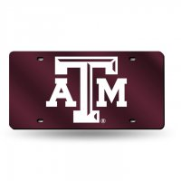 Texas A&M Aggies Red Laser License Plate