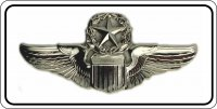 Air Force Command Pilot Chrome Insignia #2 Photo License Plate