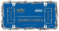 Chrome Barbed Wire License Plate Frame