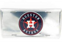 Houston Astros Anodized License Plate