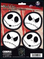Nightmare Before Christmas Jack 4pc Decal Set