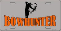 Bow Hunter Metal License Plate