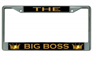 The Big Boss Chrome License Plate Frame