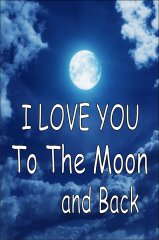 I Love You To The Moon And Back Parking SIGN