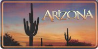Arizona Nature Scene Photo License Plate