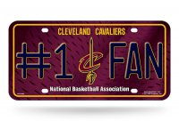 Cleveland Cavaliers #1 Fan Metal License Plate