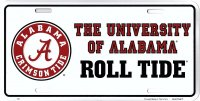 Alabama Roll Tide Metal License Plate