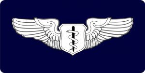 Flight Surgeon Photo License Plate