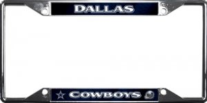 Dallas Cowboys EZ View Chrome License Plate Frame